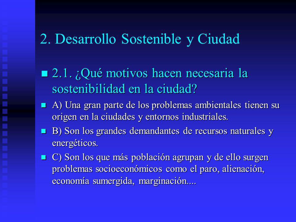 2. Desarrollo Sostenible y Ciudad