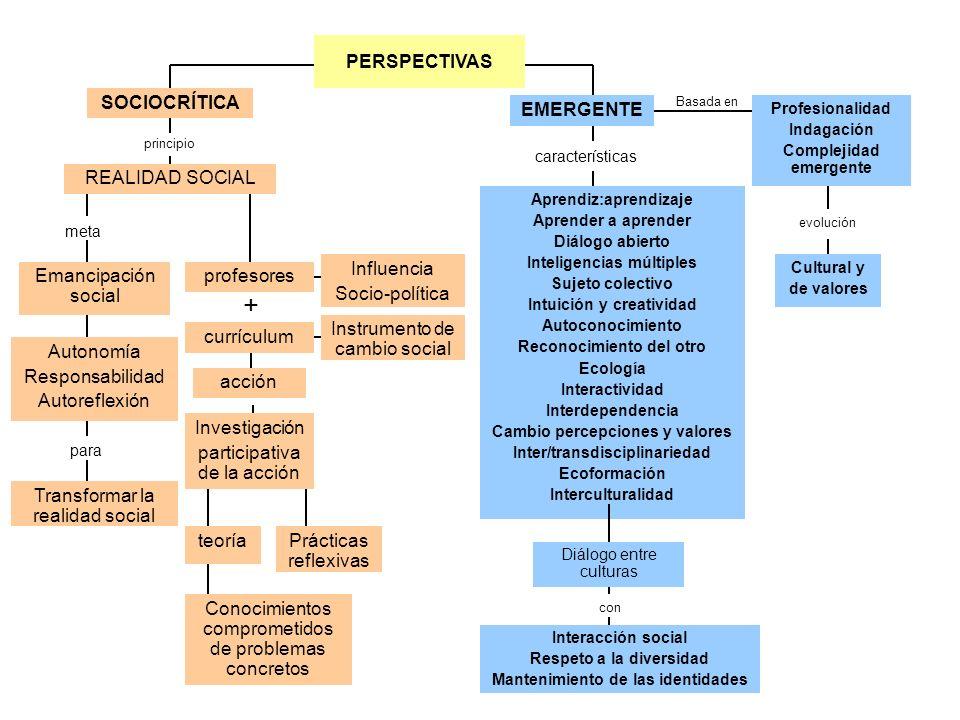 + PERSPECTIVAS SOCIOCRÍTICA EMERGENTE REALIDAD SOCIAL Influencia