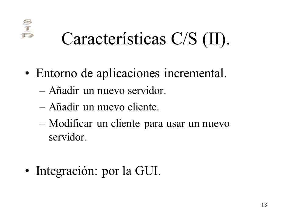 Características C/S (II).