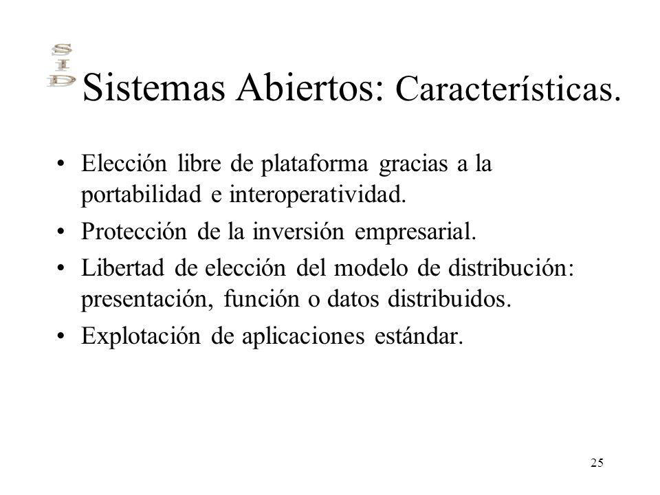 Sistemas Abiertos: Características.