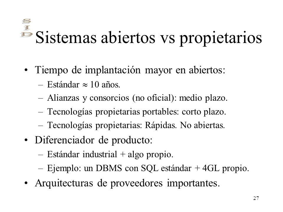 Sistemas abiertos vs propietarios