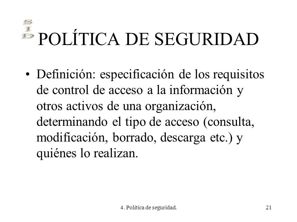 POLÍTICA DE SEGURIDAD