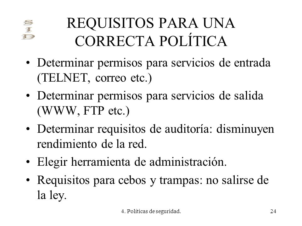 REQUISITOS PARA UNA CORRECTA POLÍTICA