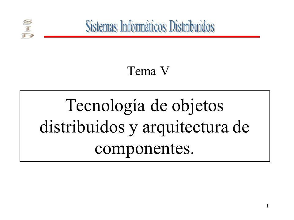 Tecnología de objetos distribuidos y arquitectura de componentes.