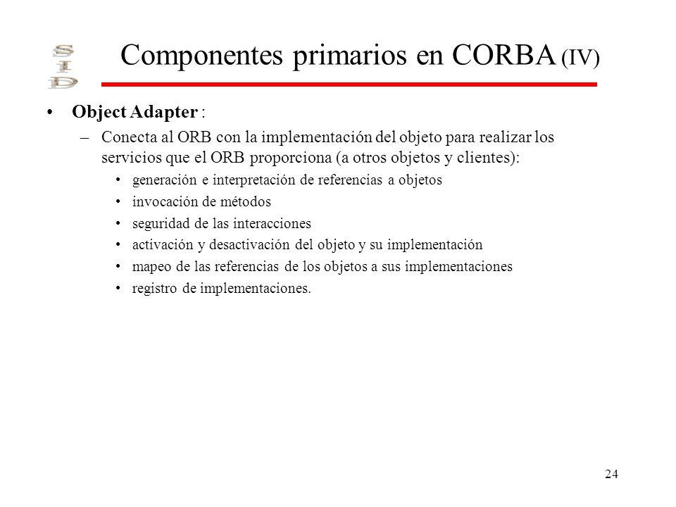 Componentes primarios en CORBA (IV)