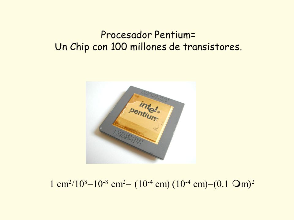 Un Chip con 100 millones de transistores.