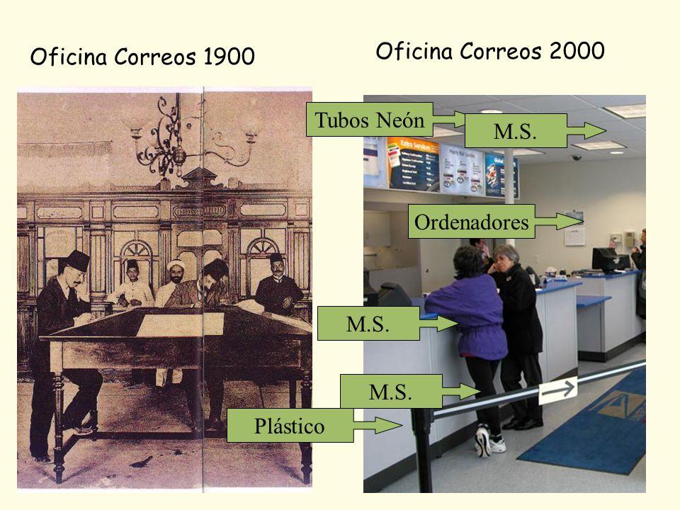 Oficina Correos 2000 Oficina Correos 1900 Tubos Neón M.S. Ordenadores M.S. M.S. Plástico