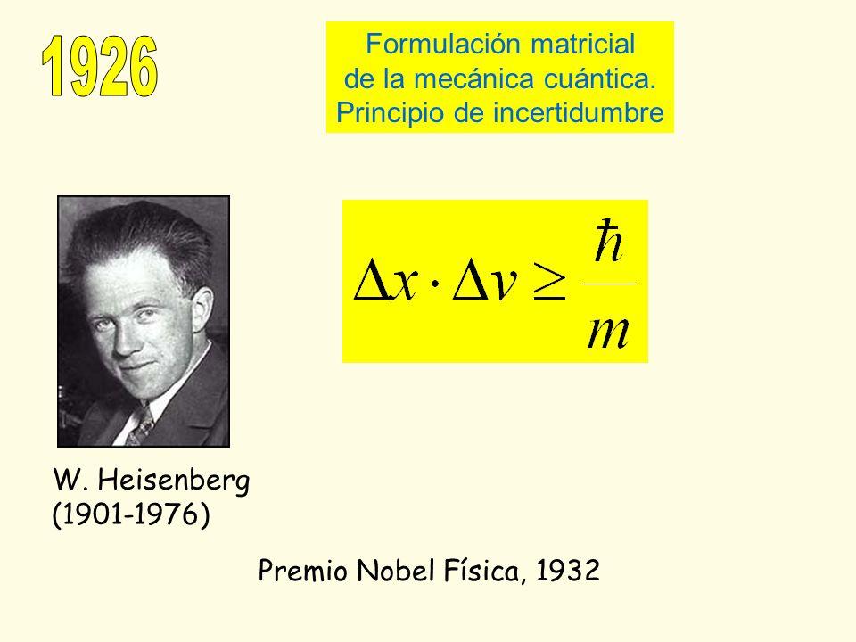 1926 Formulación matricial de la mecánica cuántica.