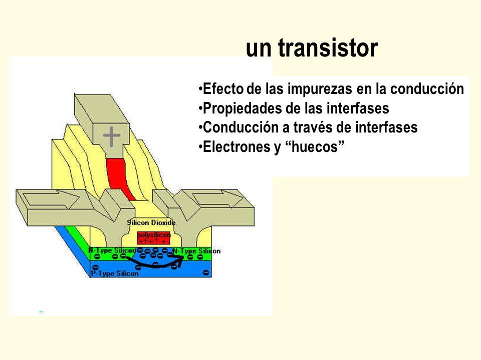 un transistor Efecto de las impurezas en la conducción