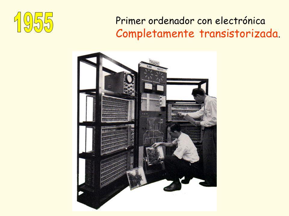 1955 Primer ordenador con electrónica Completamente transistorizada.