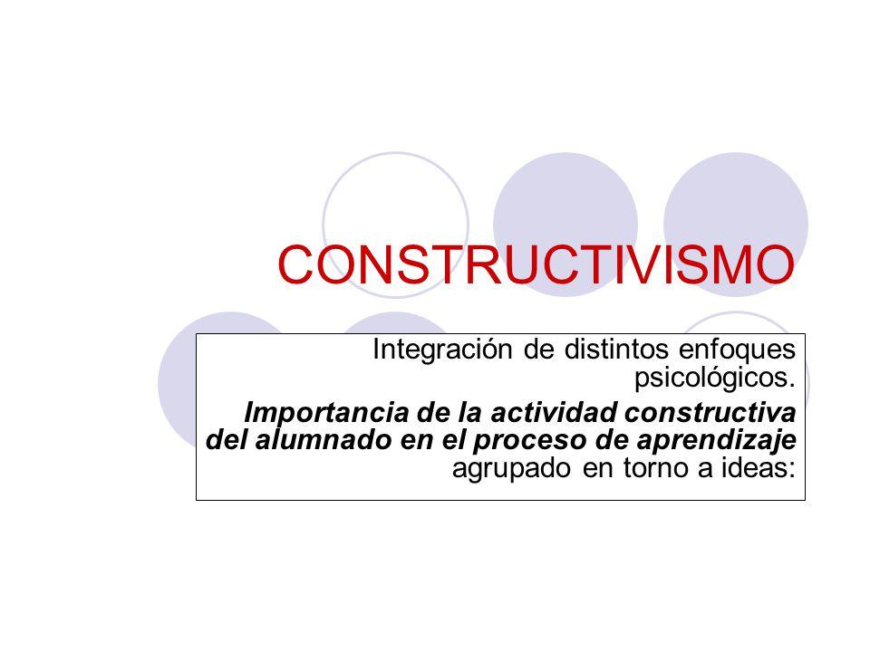 CONSTRUCTIVISMO Integración de distintos enfoques psicológicos.