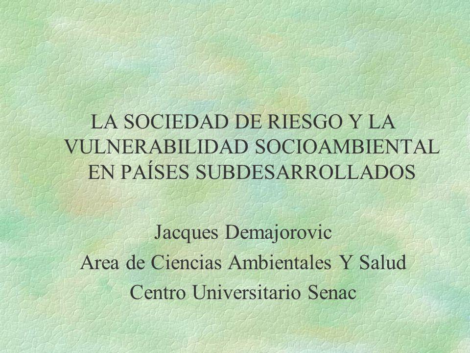 Area de Ciencias Ambientales Y Salud Centro Universitario Senac
