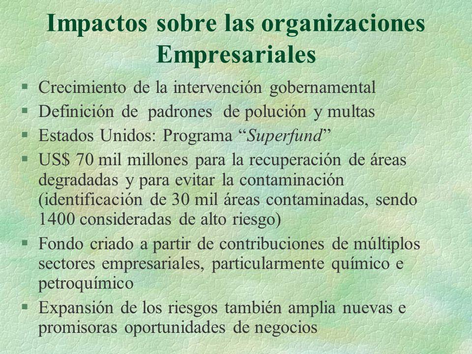 Impactos sobre las organizaciones Empresariales