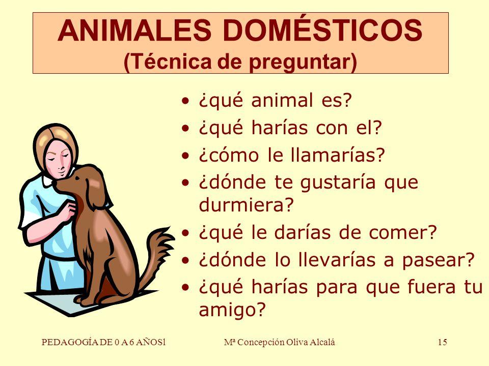 ANIMALES DOMÉSTICOS (Técnica de preguntar)