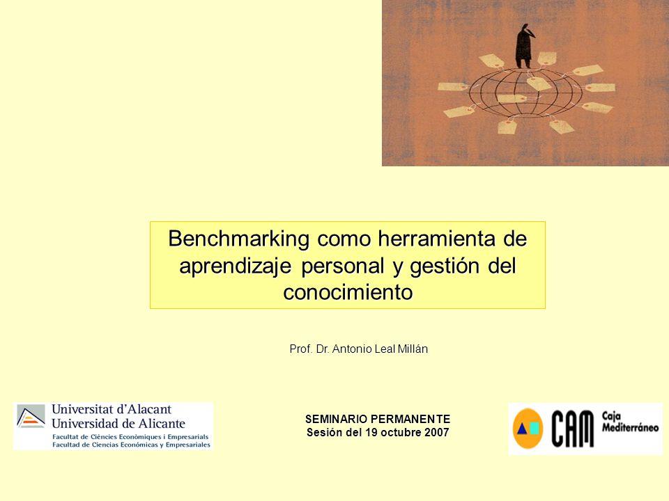 Benchmarking como herramienta de aprendizaje personal y gestión del conocimiento