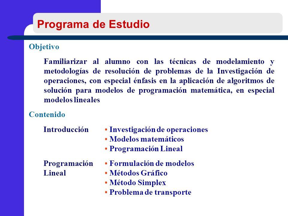 Programa de Estudio Objetivo