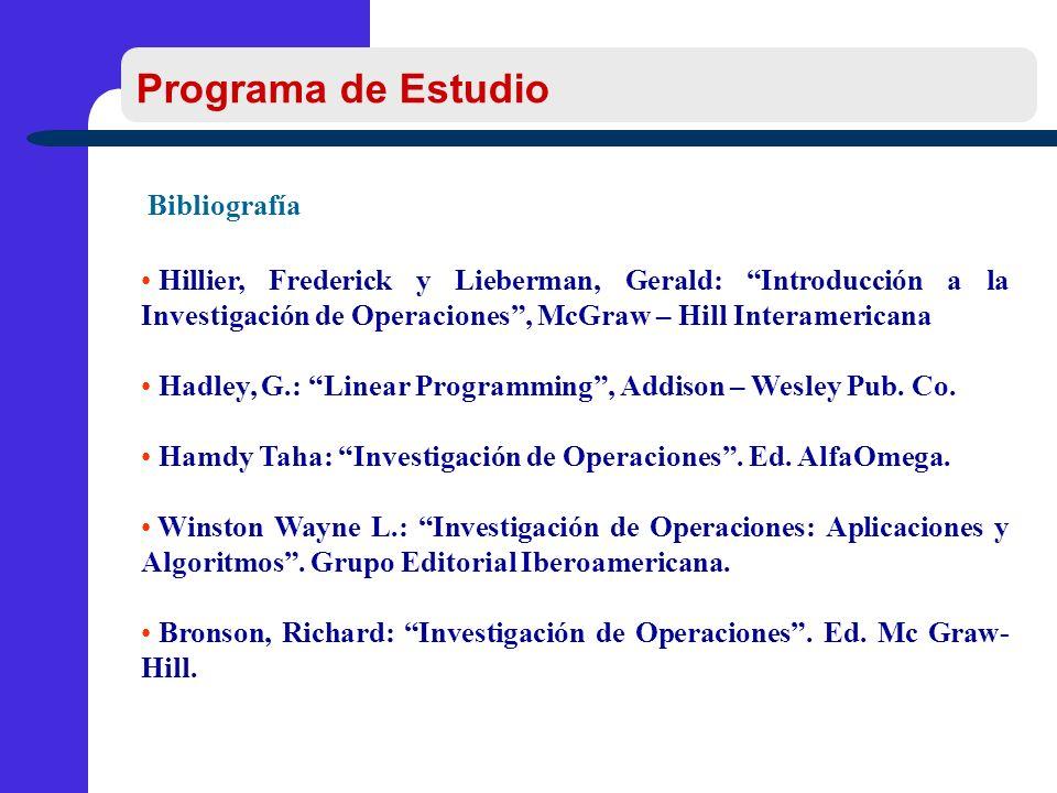 Programa de Estudio Bibliografía