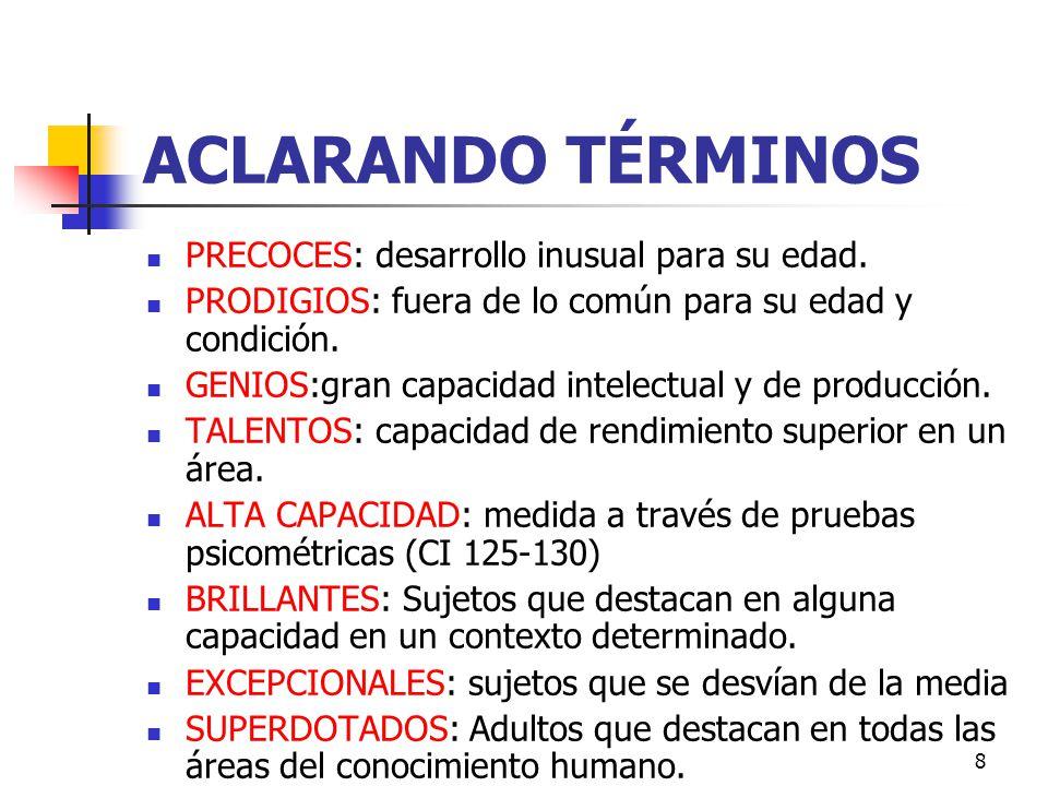 ACLARANDO TÉRMINOS PRECOCES: desarrollo inusual para su edad.