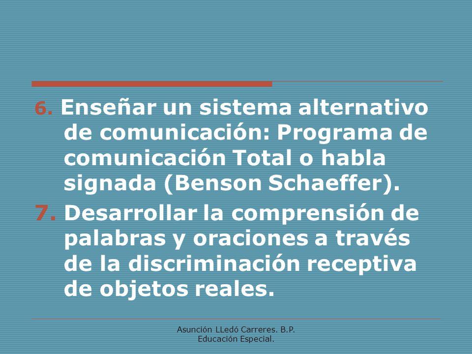 Asunción LLedó Carreres. B.P. Educación Especial.