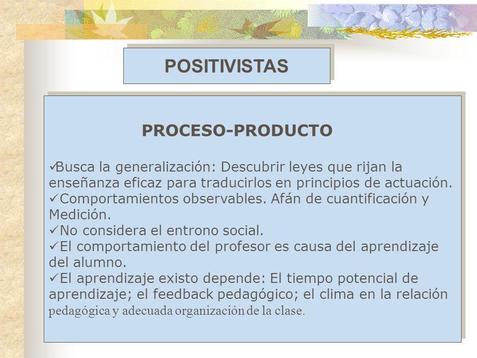 POSITIVISTAS PROCESO-PRODUCTO