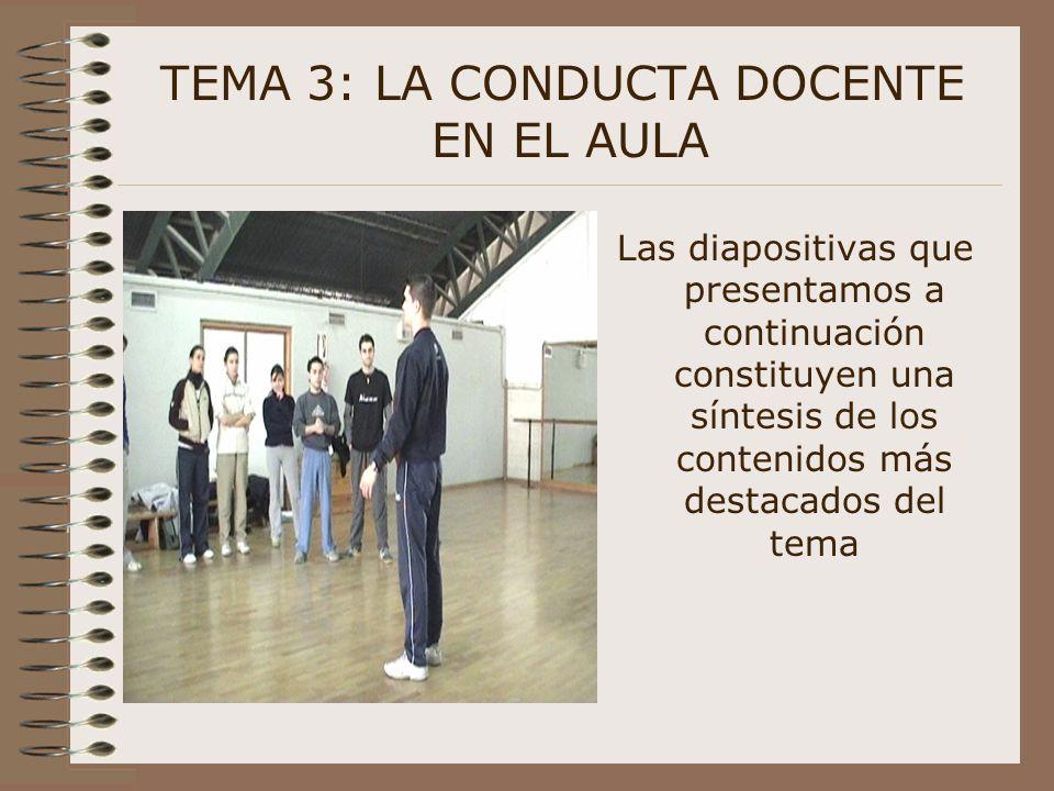 TEMA 3: LA CONDUCTA DOCENTE EN EL AULA