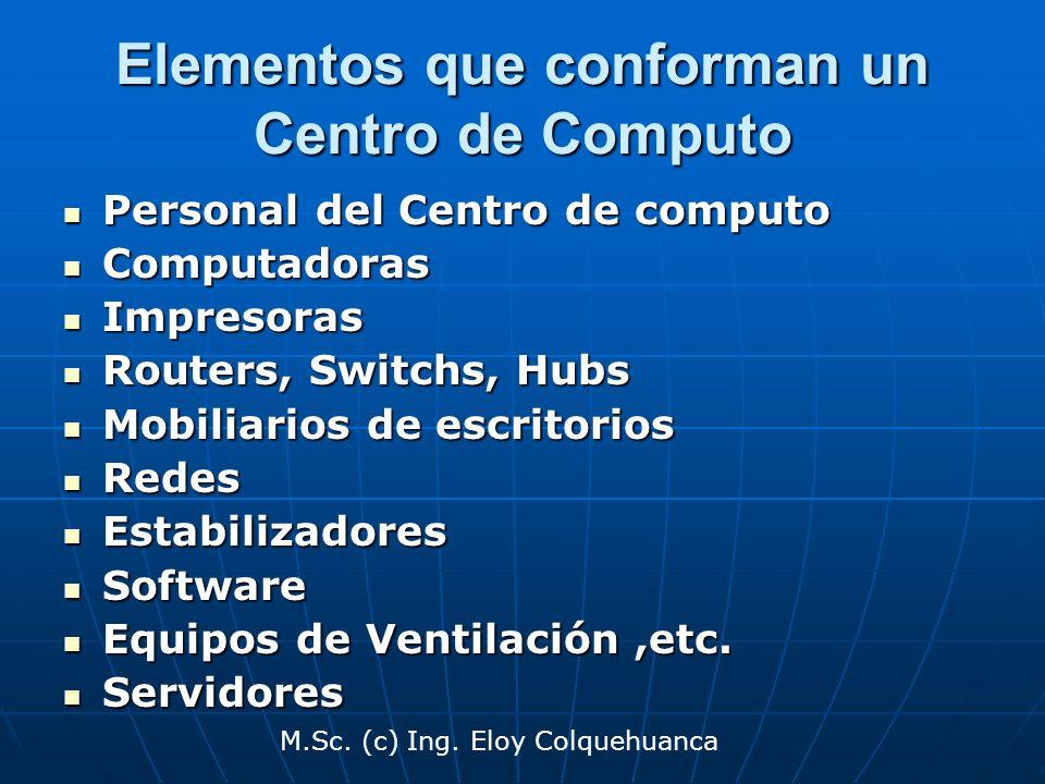 Elementos que conforman un Centro de Computo