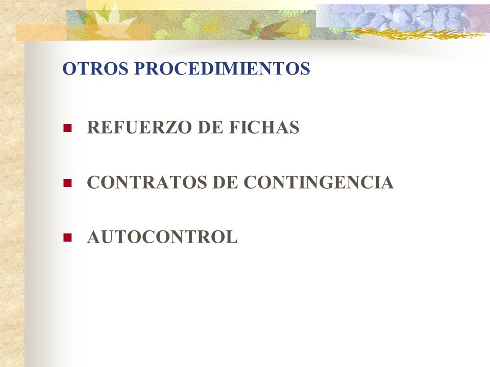 CONTRATOS DE CONTINGENCIA AUTOCONTROL