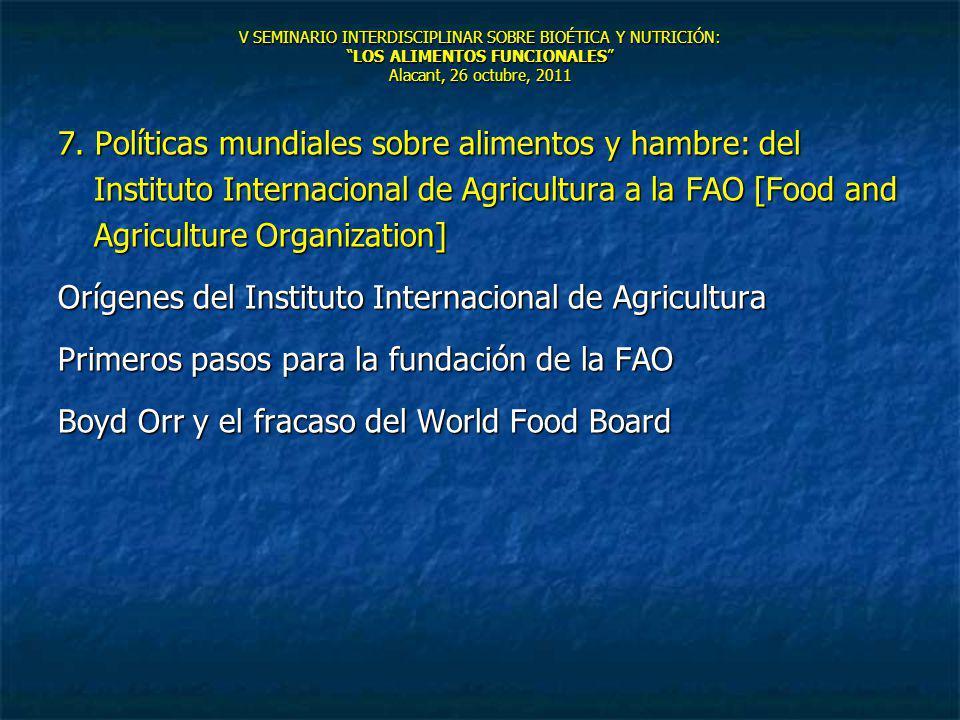 Orígenes del Instituto Internacional de Agricultura