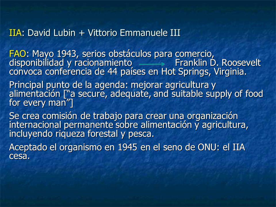 IIA: David Lubin + Vittorio Emmanuele III