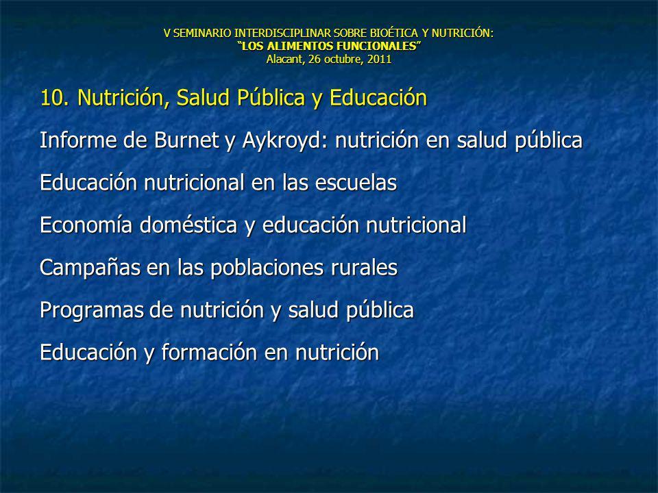 10. Nutrición, Salud Pública y Educación