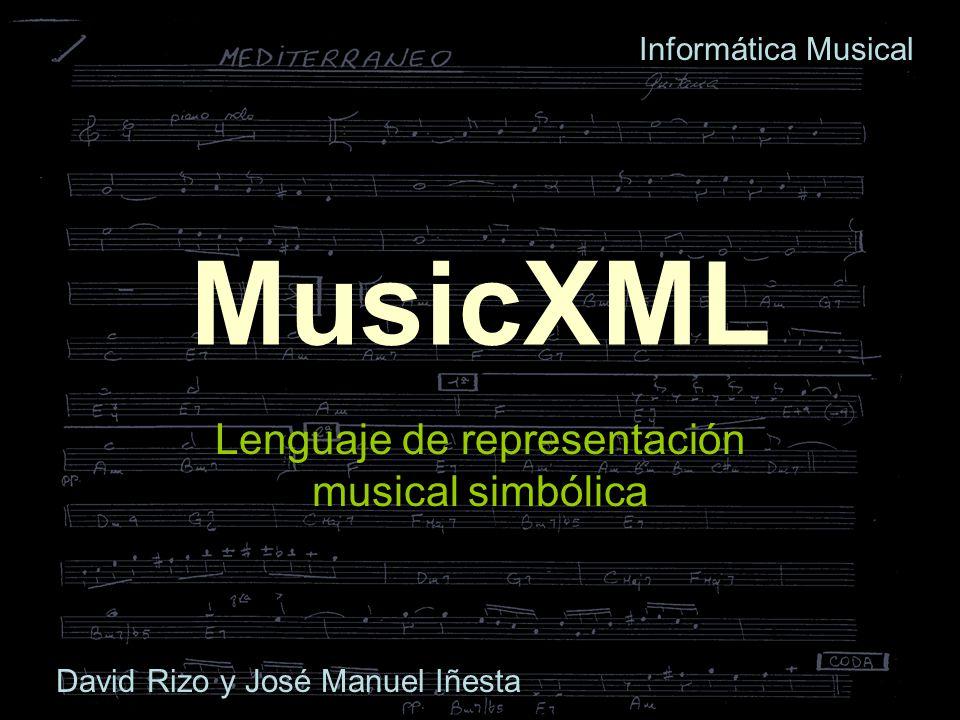 Lenguaje de representación musical simbólica