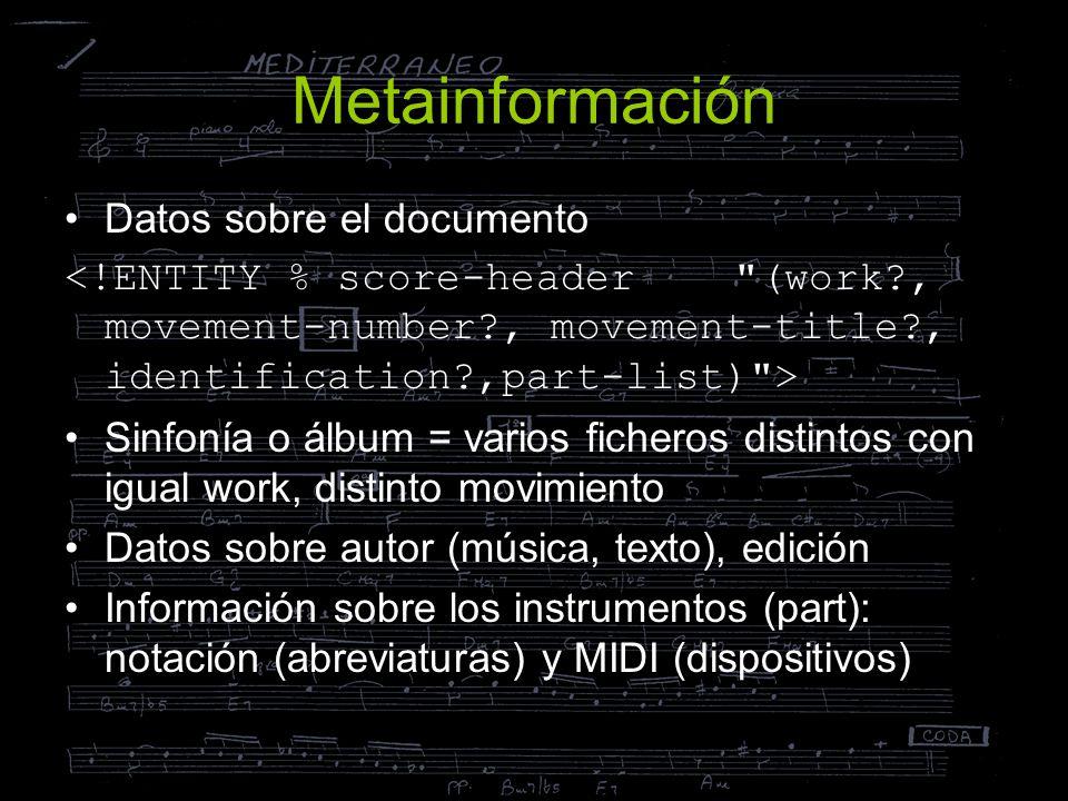 Metainformación Datos sobre el documento