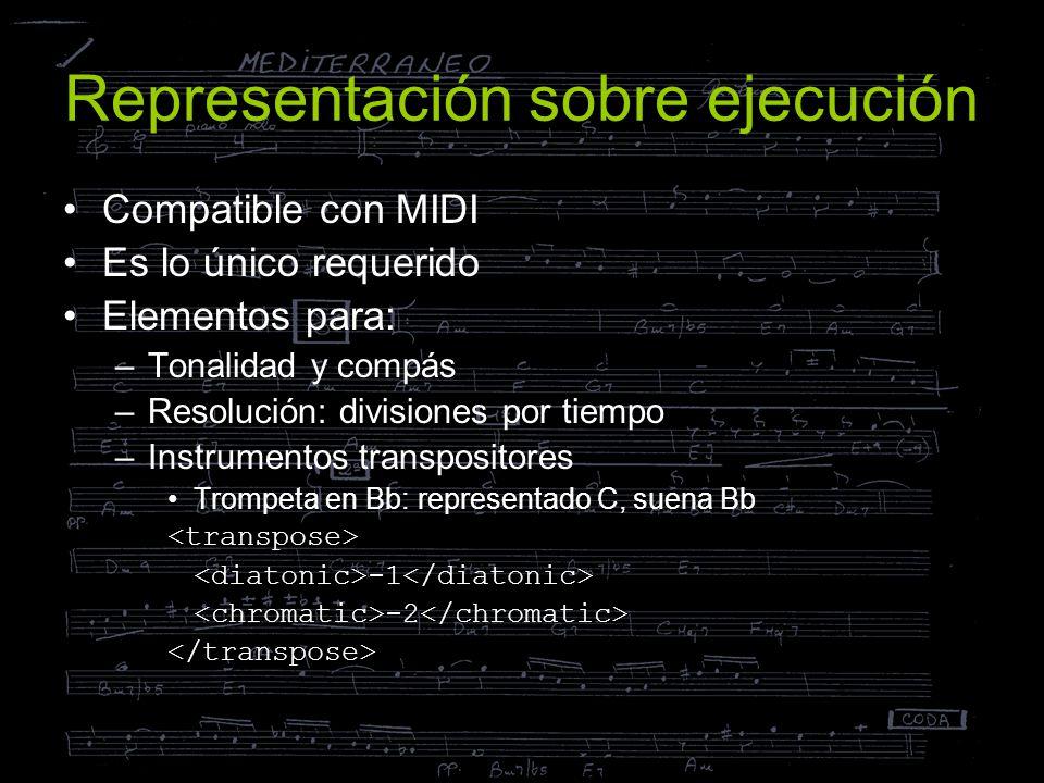 Representación sobre ejecución