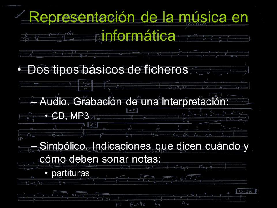 Representación de la música en informática