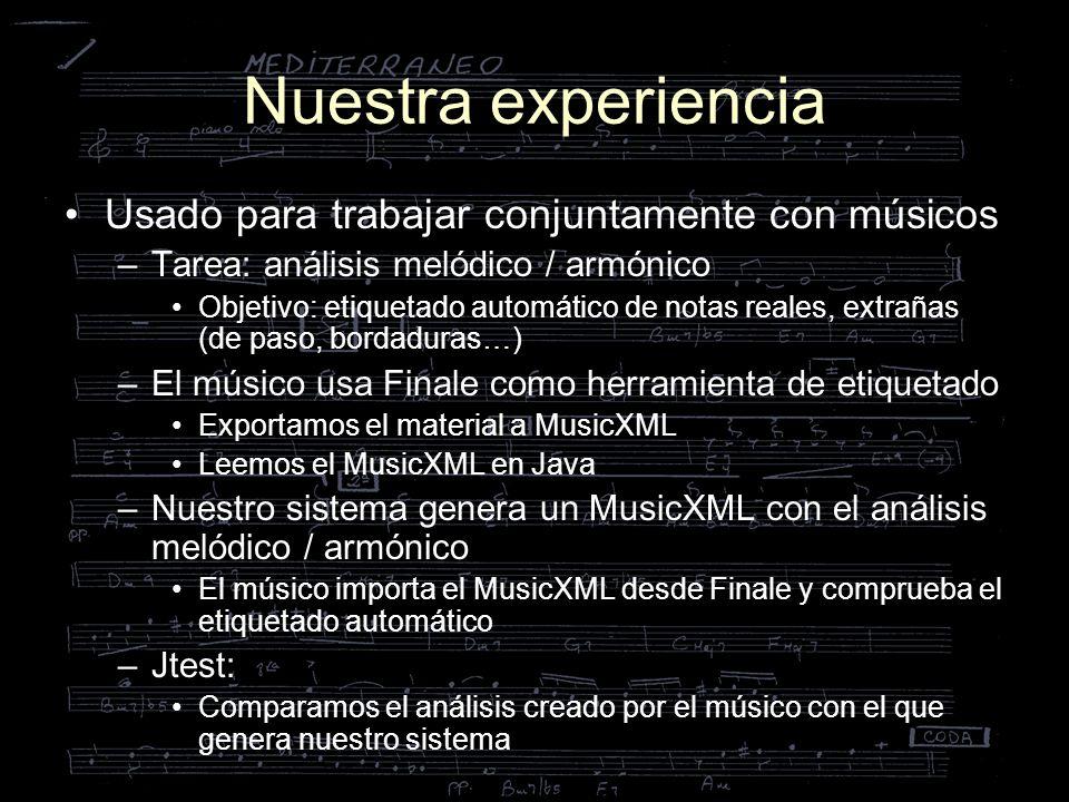 Nuestra experiencia Usado para trabajar conjuntamente con músicos
