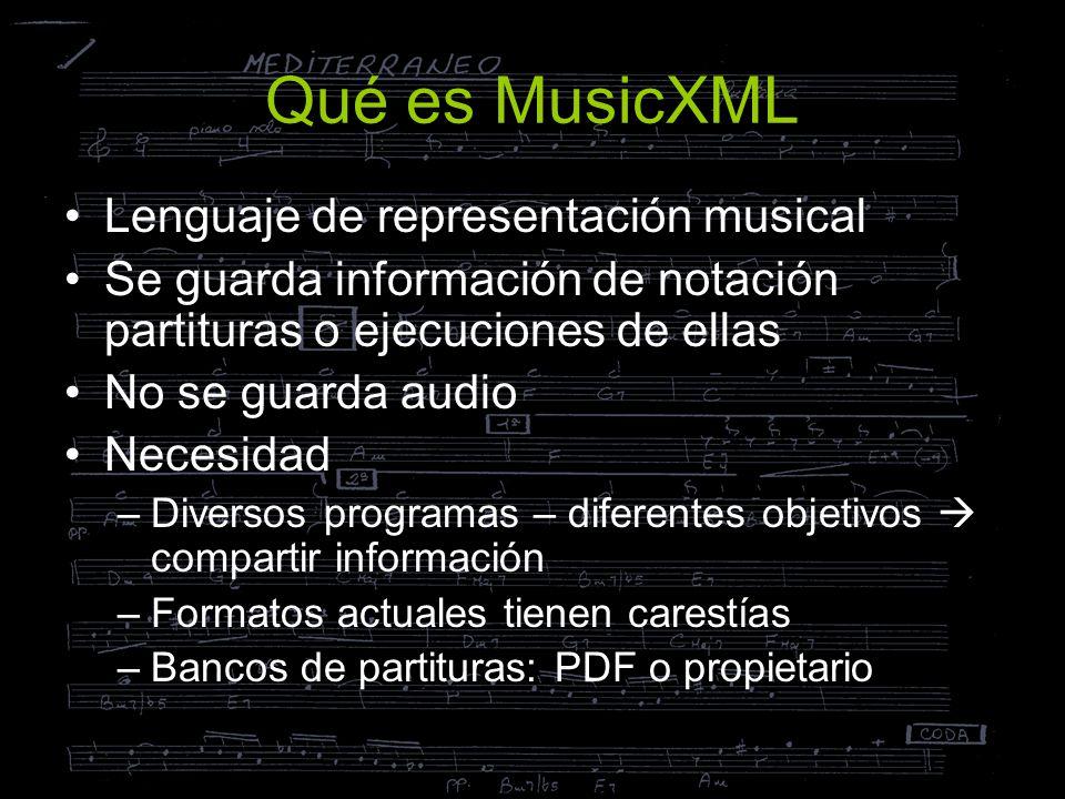 Qué es MusicXML Lenguaje de representación musical