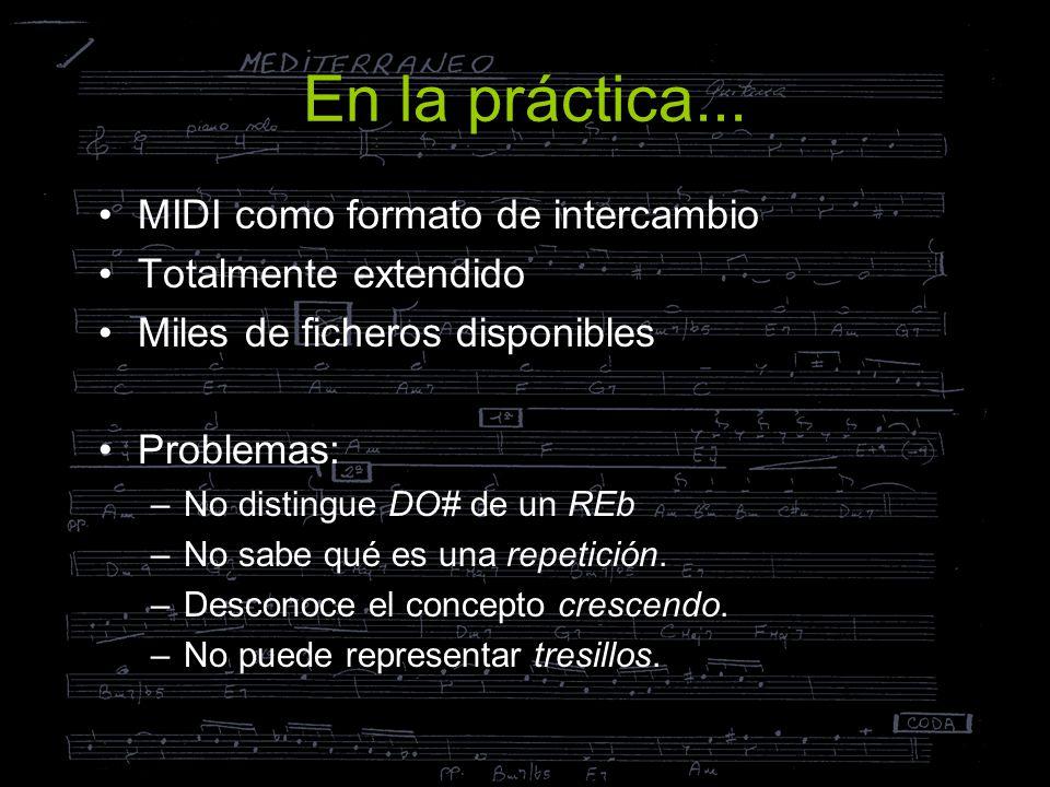 En la práctica... MIDI como formato de intercambio