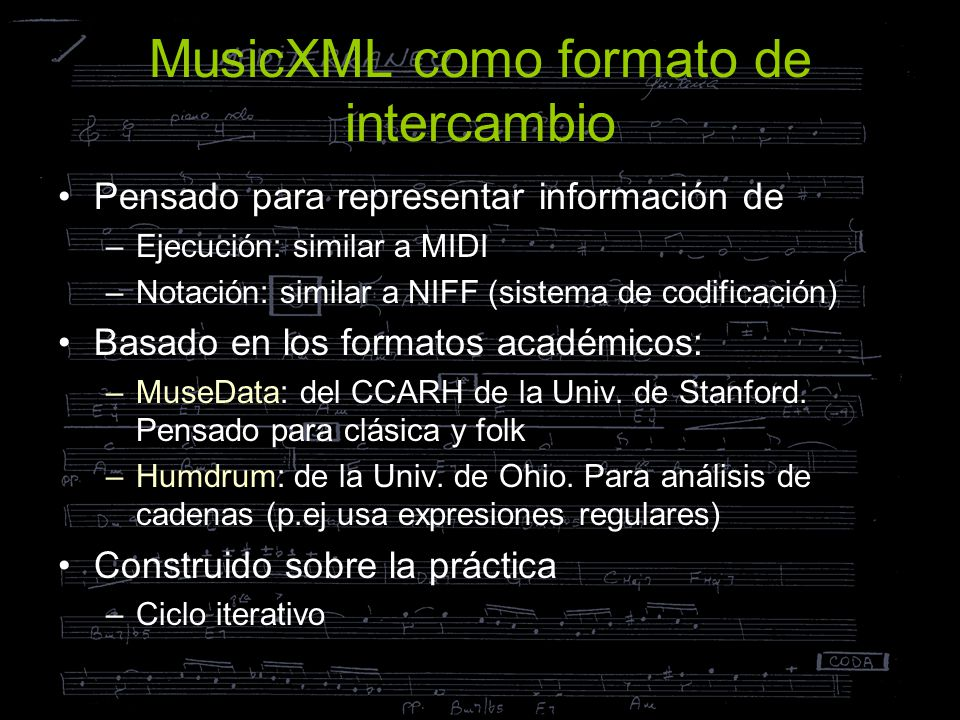 MusicXML como formato de intercambio
