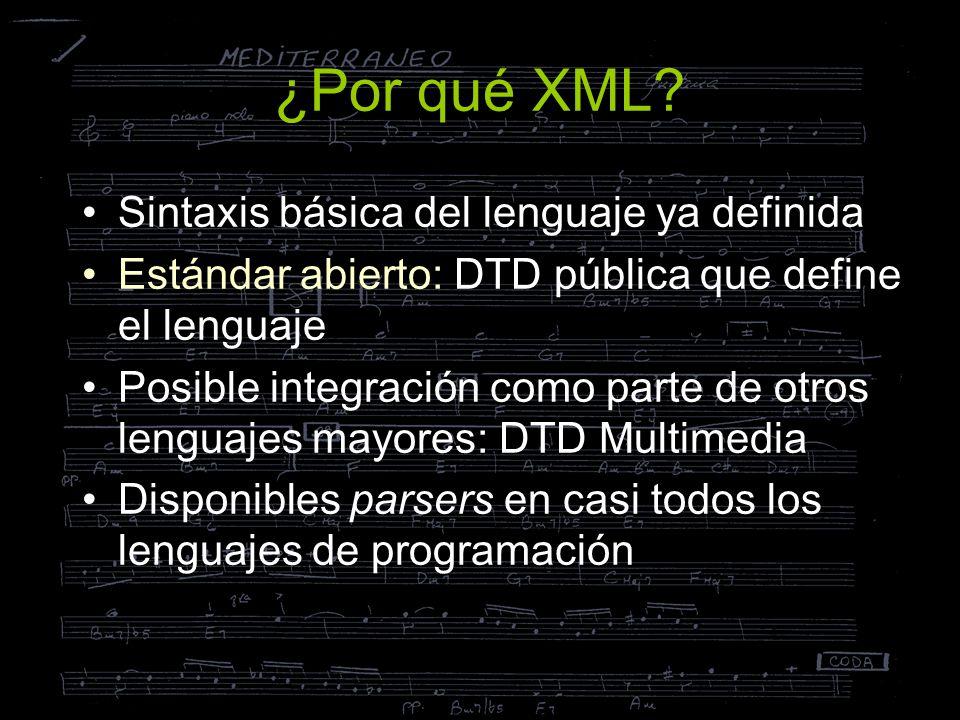 ¿Por qué XML Sintaxis básica del lenguaje ya definida