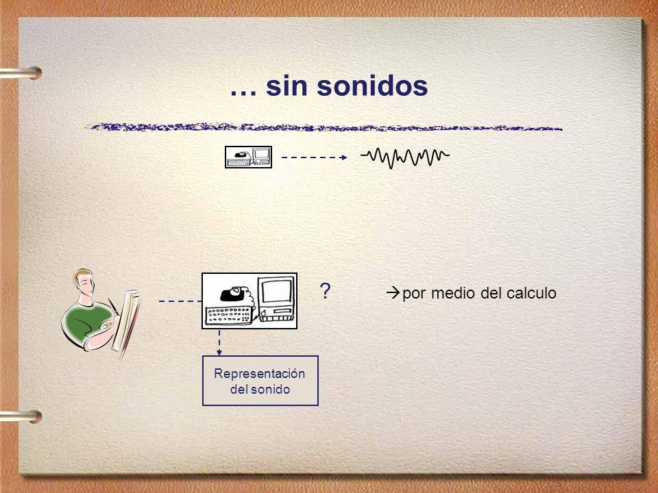 … sin sonidos por medio del calculo Representación del sonido