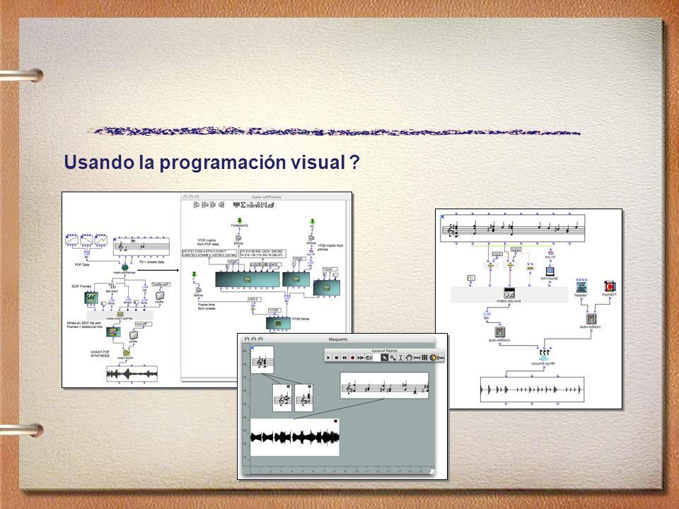 Usando la programación visual
