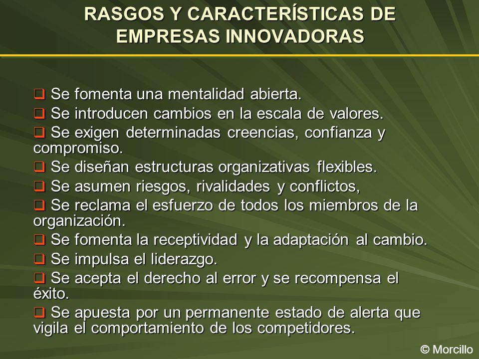 RASGOS Y CARACTERÍSTICAS DE EMPRESAS INNOVADORAS