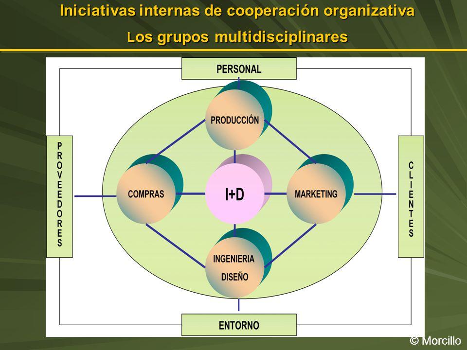 Iniciativas internas de cooperación organizativa Los grupos multidisciplinares