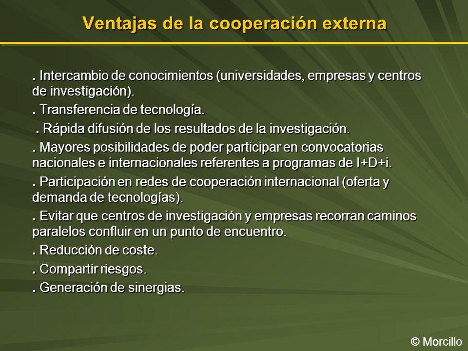 Ventajas de la cooperación externa