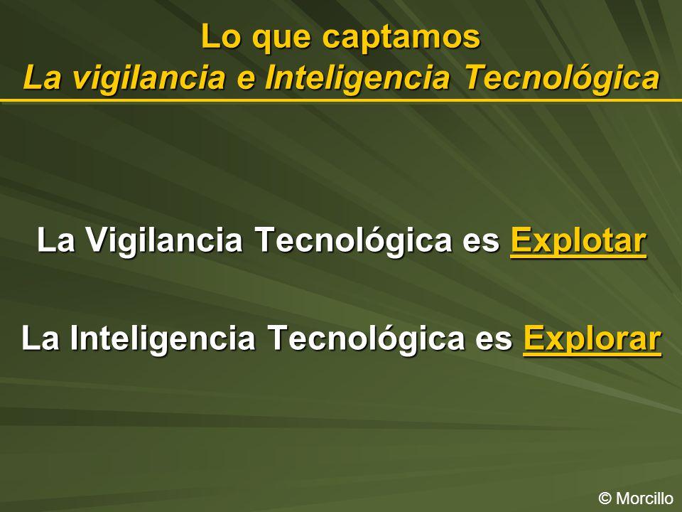 Lo que captamos La vigilancia e Inteligencia Tecnológica