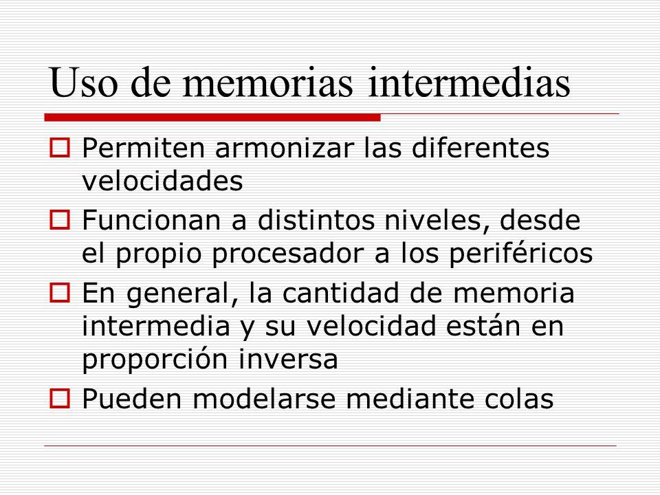 Uso de memorias intermedias
