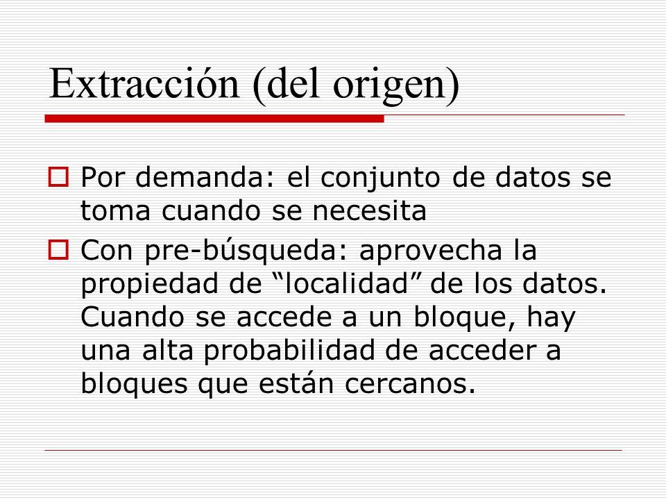 Extracción (del origen)