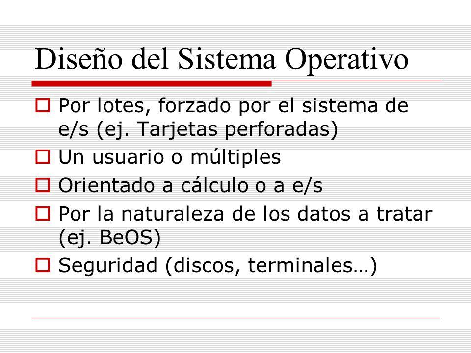 Diseño del Sistema Operativo