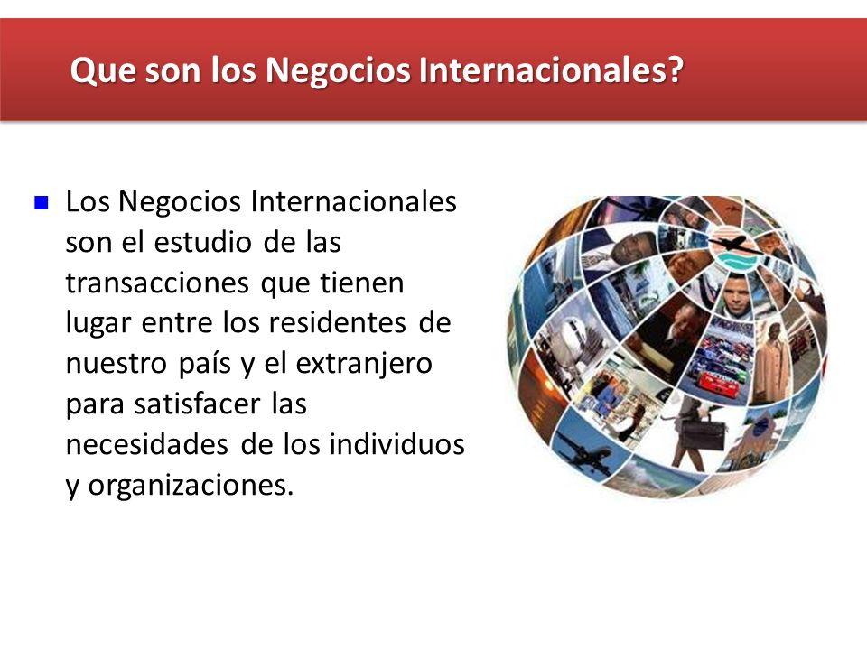 Que son los Negocios Internacionales
