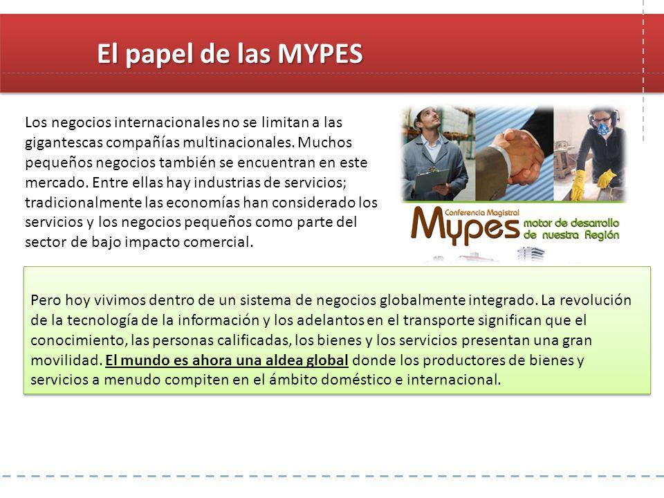 El papel de las MYPES